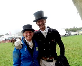 Blenheim Palace Horse Trials, Karin & Mark Todd after dressage